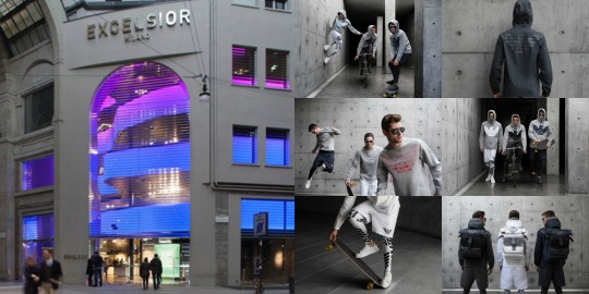 Video at Excelsior Milano for Armani Remix capsule collection in collaboration with Antonia